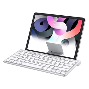 Product OMOTON Bluetooth Keyboard w/ Stand Silver base image