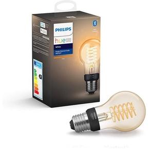 Product Philips Hue White 7W Filament A60 E27 Single Bulb base image