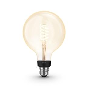 Product Philips Hue White 7W Filament G125 E27 Single Bulb base image