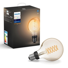 Product Philips Hue White 7W Filament G93 E27 Single Bulb base image