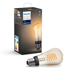Product Philips Hue White 7W Filament ST64 E27 Single Bulb base image