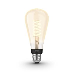 Product Philips Hue White 7W Filament ST72 Single Bulb base image