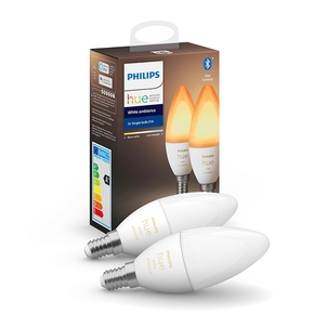 Product Philips Hue White Ambiance 5.2W E14 Candle 2-Pack base image