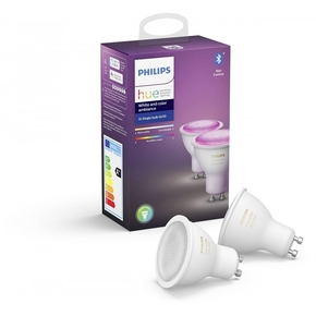 Product Philips Hue White & Color Ambiance GU10 Spot Light 2-Pack base image