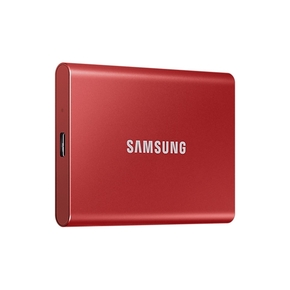 Product Samsung T7 Portable SSD 500GB USB 3.2 Metallic Red base image