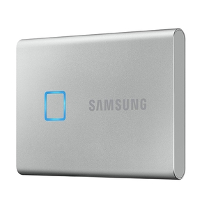 Product Samsung T7 Touch Portable SSD 1TB USB 3.2 Silver base image