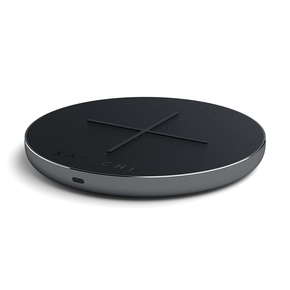 Product Satechi Aluminum USB-C Fast Wireless Charger Space Gray base image