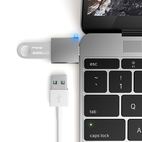 Product Satechi USB 3.0 USB Type C (USB-C) to 3.0 USB-A (Type A) Space Gray base image