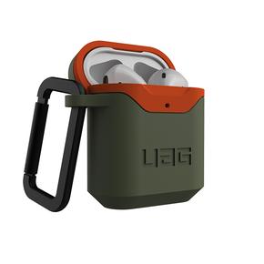 Product UAG Standard Issue Hardcase 001 for Apple Airpods Gen 1 & 2 - Olive/Orange base image