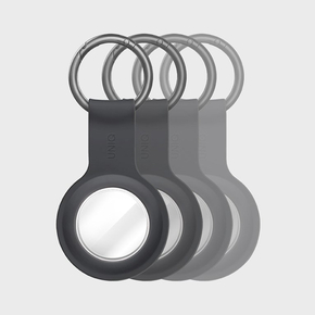 Product Uniq Lino Liquid Silicone AirTag Case Bundle of 4 - Ash (Grey) base image