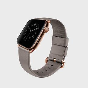Product Uniq Mondain Leather Strap for Apple Watch 44/42mm Beige base image