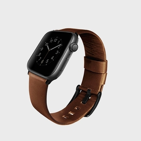 Product Uniq Mondain Leather Strap for Apple Watch 44/42mm Brown base image