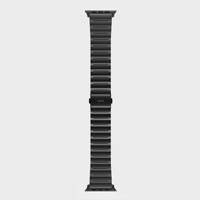 Product Uniq Strova Steel Link Band for Apple Watch 44/42mm Midnight Black base image