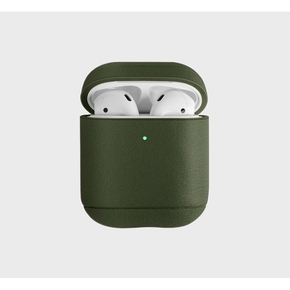 Product Uniq Terra Airpods Leather Case Olive base image